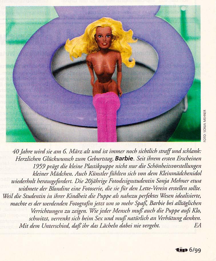 Tip Berlin No Barbie is Perfect! Artikel zum 40. Geburtstag der Barbie mit meinem Barbiestill!