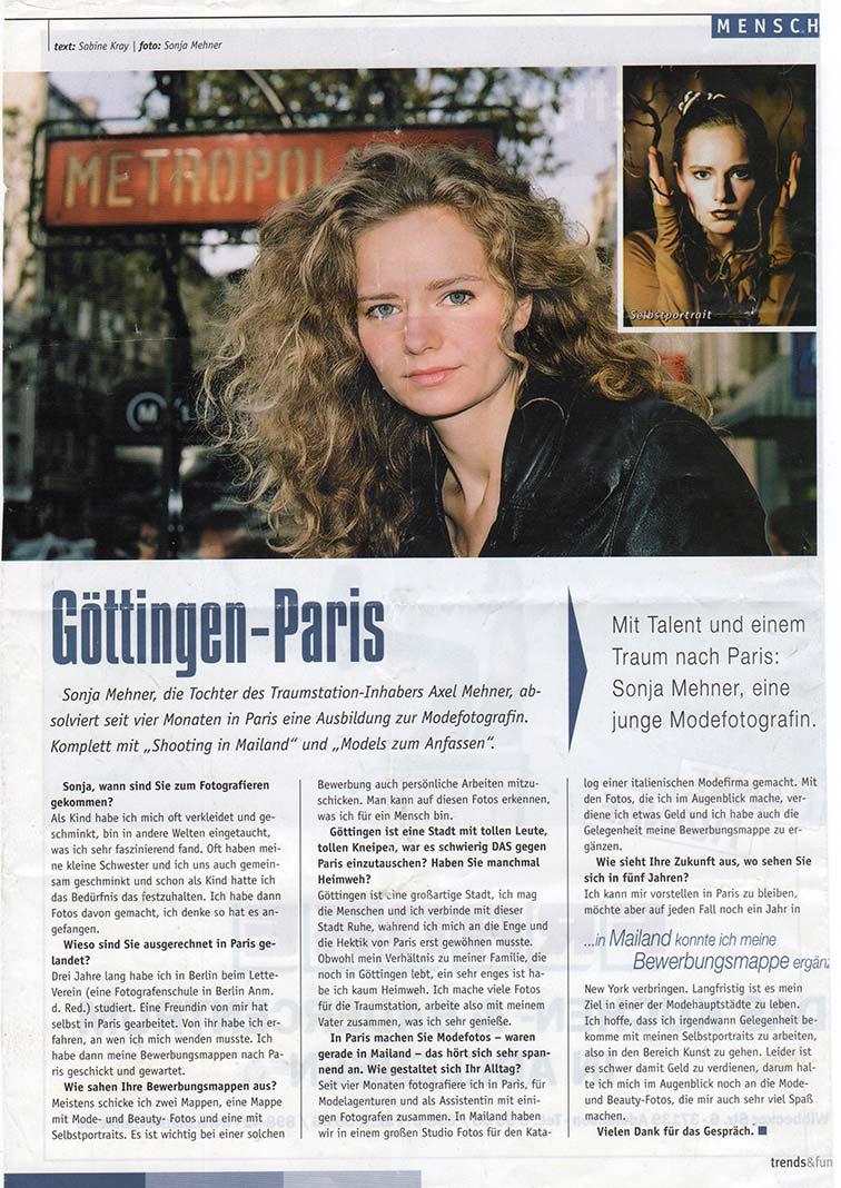 Dieser Artikel berichtet über mich und meine Zeit in Paris als Fotoassistentin und Fotografin