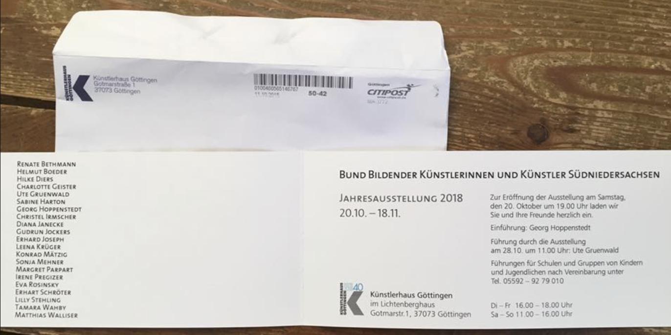 Jahresausstellung BBK 2018 Zwischenräume